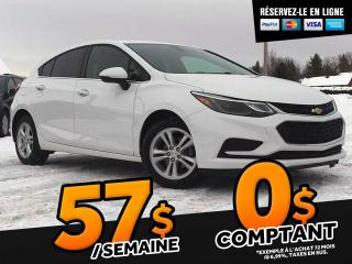 Used 2018 Chevrolet Cruze LT HB BLUETOOTH SIEGES  CHAUFFANTS! for sale in St-Malachie, QC