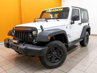 Used 2017 Jeep Wrangler SPORT OFF-ROAD 4X4 *GR. REMORQ* REG VITESSE *PROMO for sale in Mirabel, QC