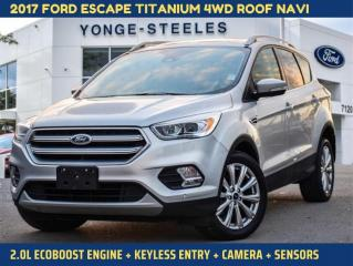 Used 2017 Ford Escape Titanium for sale in Thornhill, ON