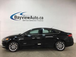 Used 2018 Ford Fusion Energi SE Luxury - HEATED LEATHER! NAV! ONLY 30,000KMS! + MORE! for sale in Belleville, ON