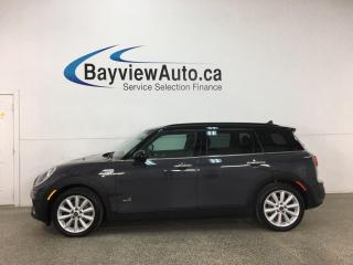 Used 2019 MINI Cooper Clubman Cooper S - 6SPD! AWD! SUNROOF! HTD LEATHER! LOADED! for sale in Belleville, ON