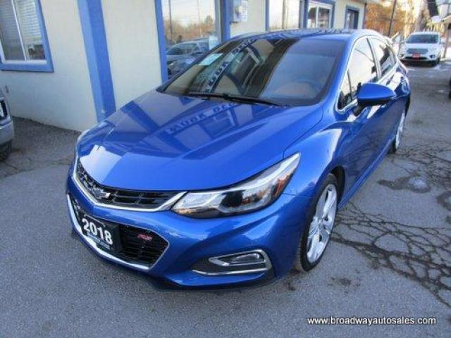 2018 Chevrolet Cruze LOADED PREMIER-RS EDITION 5 PASSENGER 1.4L - TURBO.. NAVIGATION.. LEATHER.. HEATED SEATS.. BACK-UP CAMERA.. POWER SUNROOF.. BLUETOOTH SYSTEM..