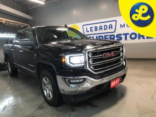 Used 2017 GMC Sierra 1500 SLT Z71 4WD Crew Cab * 5.3L ECOTEC3 V8  * Navigation * Leather Heated & Vented Seats * Rear Sliding Window * Power Adjustable Pedals * Power Front Mem for sale in Cambridge, ON