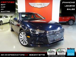 Used 2017 Audi A4 | QUATTRO | ACCIDENT FREE | FINANCE @ 4.65% for sale in Oakville, ON