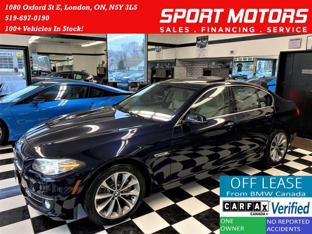 2016 BMW 5 Series 528i xDrive TECH+New Brakes+360 CAM+ACCIDENT FREE