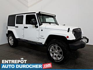 Used 2018 Jeep Wrangler JK Unlimited Sahara 4X4 Automatique - NAVIGATION - A/C for sale in Laval, QC