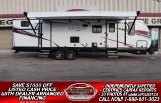 Used 2019 CRUISER RV Fun Finder Xtreme Lite M31BH, HIGH END, 2 BIG SLIDES, 2 KITCHENS SLEEP 10 for sale in Headingley, MB