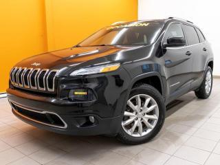 Used 2016 Jeep Cherokee LIMITED 4X4 SIÈGES CHAUFF/ VENTILÉS NAV *CUIR* for sale in St-Jérôme, QC