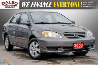 Used 2003 Toyota Corolla CE / BUCKET SEATS/ for sale in Hamilton, ON