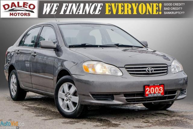 2003 Toyota Corolla CE / BUCKET SEATS/
