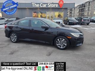 Used 2016 Honda Civic Sedan EX sunroof Htd Seat Side/Rear CAm push start 1ownr for sale in Winnipeg, MB