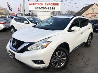 Used 2016 Nissan Murano SV Prl White AWD Navigation/Sunroof/Camera/Power Hatch for sale in Mississauga, ON