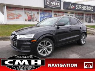 Used 2017 Audi Q3 2.0T quattro Progressiv  NAV CAM ROOF LEATH 19-AL for sale in St. Catharines, ON