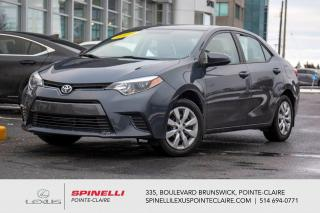 Used 2016 Toyota Corolla **LE** **BAS MILEAGE**GROUPE ELECTRIQUE**BLUETOOTH**CAMERA DE RECULE**SIEGES CHAUFFANT** for sale in Montréal, QC