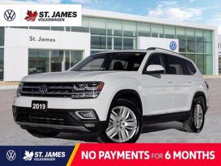 Used 2019 Volkswagen Atlas Execline, Clean Carfax, Heated Seats, Apple CarPlay for sale in Winnipeg, MB