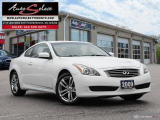 Used 2009 Infiniti G37 X Premium AWD ONLY 220K! **2 DOOR COUPE** PREMIUM PKG for sale in Scarborough, ON