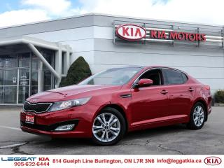Used 2013 Kia Optima EX Turbo | BT | LEATHER | PUSH START | HEATED SEATS | DUAL CLIMATE | for sale in Burlington, ON