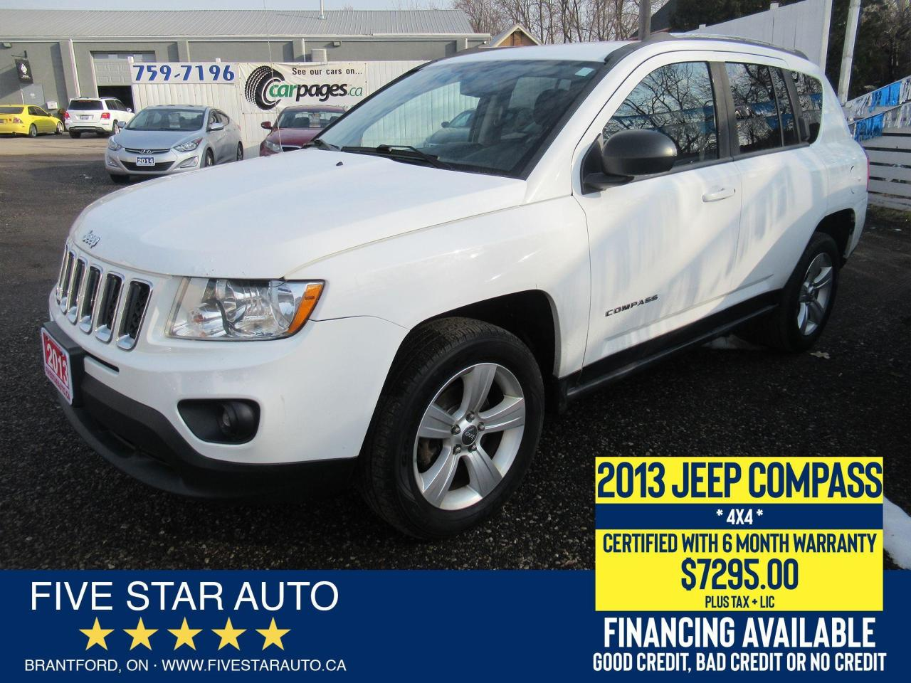 2013 Jeep Compass North - Certified w/ 6 Month Warranty