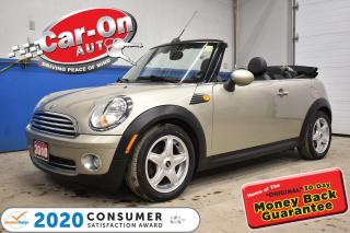 Used 2010 MINI Cooper C)ONVERTIBLE AUTO | LEATHER for sale in Ottawa, ON