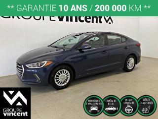 Used 2018 Hyundai Elantra GL ** GARANTIE 10 ANS ** Véhicule récent, fiable et économique! for sale in Shawinigan, QC