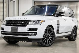 Used 2017 Land Rover Range Rover Supercharged SWB *BAS KMs, BIEN ÉQUIPÉ!* for sale in Laval, QC