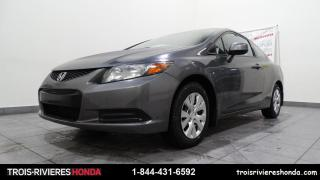 Used 2012 Honda Civic LX + MANUELLE + A/C + BLUETOOTH ! for sale in Trois-Rivières, QC
