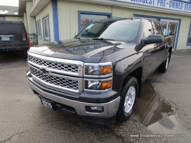 2015 Chevrolet Silverado 1500 GREAT KM'S LT EDITION 6 PASSENGER 5.3L - VORTEC.. 4X4.. CREW-CAB.. SHORTY.. TRAILER BRAKE.. HEATED SEATS.. BACK-UP CAMERA.. BLUETOOTH SYSTEM..