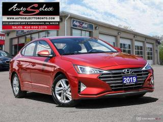 Used 2019 Hyundai Elantra Preferred w/Sun & Safety Package ONLY 52K! **SUNROOF**BACK-UP CAMERA**CLN CARPROOF* for sale in Scarborough, ON