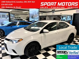 Used 2014 Toyota Corolla CE+New Tires+A/C+Bluetooth+ACCIDENT FREE for sale in London, ON