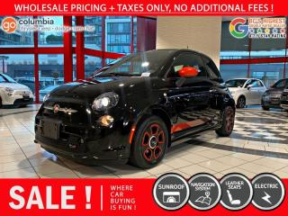 Used 2017 Fiat 500 E 500e - No Accdient / Nav / Sunroof / One Owner for sale in Richmond, BC