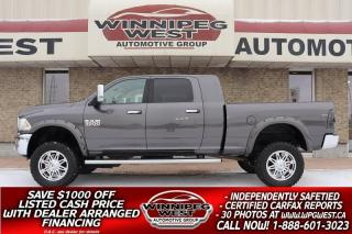 Used 2014 RAM 3500 HUGE LIFTED MEGA CAB LARAMIE 6.7 CUMMINS 4X4 NICE! for sale in Headingley, MB