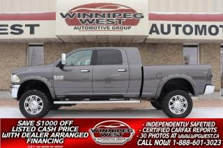 Used 2014 Dodge Ram 3500 HUGE LIFTED MEGA CAB LARAMIE 6.7 CUMMINS 4X4 NICE! for sale in Headingley, MB