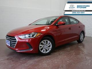 Used 2017 Hyundai Elantra NEW FRONT BRAKES | SERVICED HERE | BLUETOOTH  - $77 B/W for sale in Brantford, ON
