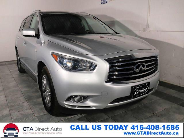 2015 Infiniti QX60 AWD Sunroof 7Pass 3Row Camera Hitch XM Certified