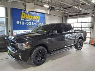 Used 2018 RAM 1500 Black Express Crew Cab 4X4!!20inch semi-gloss allo for sale in Nepean, ON