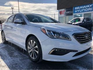 Used 2016 Hyundai Sonata GLS - Leather - Bluetooth - Sunroof - Local Trade for sale in Cornwall, ON