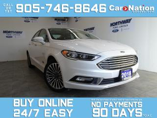 Used 2018 Ford Fusion Energi TITANIUM   ELECTRIC   LEATHER   ROOF   NAV for sale in Brantford, ON