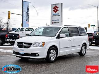 Used 2016 Dodge Grand Caravan Crew Plus ~Heated Leather Seats/Wheel ~Cam ~Roof for sale in Barrie, ON