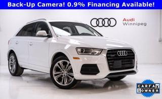 Used 2017 Audi Q3 Progressiv w/Sunroof & Winter Tires *Local Trade* for sale in Winnipeg, MB