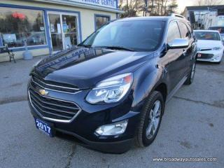 Used 2017 Chevrolet Equinox LOADED PREMIER EDITION 5 PASSENGER 2.4L - ECO-TEC.. NAVIGATION.. LEATHER.. HEATED SEATS.. BACK-UP CAMERA.. POWER SUNROOF.. PIONEER AUDIO.. for sale in Bradford, ON