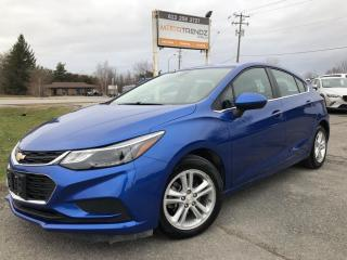 Used 2017 Chevrolet Cruze LT Auto Nice with Heated Seats, AutoStart, BackupCam, Bluetooth, Alloy Wheels, Pwr Seat and more! for sale in Kemptville, ON
