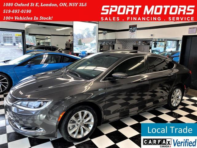 2015 Chrysler 200 C V6+GPS+Pano Roof+Remote Start+New Tires & Brakes