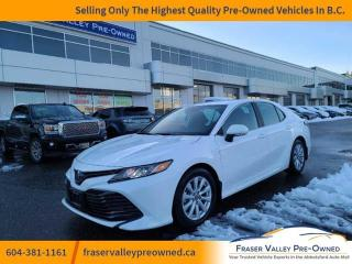 Used 2019 Toyota Camry Hybrid LE  **Best Price in BC** Navigation, Heated Seats, Apple CarPlay, Lane Departure Alert, Pre Collision System, Adaptive Cruise for sale in Abbotsford, BC