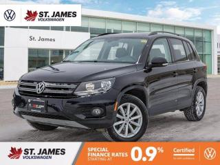 Used 2017 Volkswagen Tiguan Wolfsburg Edition, Clean Carfax, Apple CarPlay, Heated Seats for sale in Winnipeg, MB