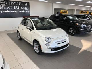 Used 2015 Fiat 500 C DÉCAPOTABLE LOUNGE AUTO A/C MAGS CUIR SI for sale in Dorval, QC