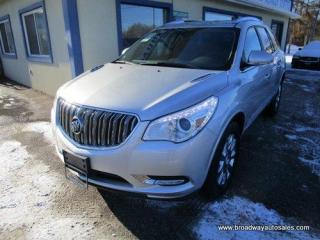 Used 2017 Buick Enclave LOADED CXL EDITION 7 PASSENGER 3.6L - V6.. CAPTAINS.. THIRD ROW.. NAVIGATION.. LEATHER.. HEATED SEATS.. BACK-UP CAMERA.. BLUETOOTH SYSTEM.. for sale in Bradford, ON