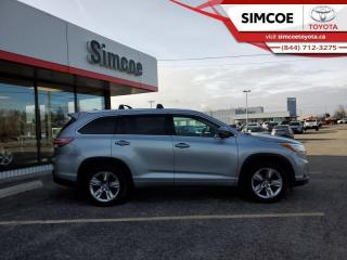 Used 2014 Toyota Highlander Limited  - Navigation -  Sunroof - $232 B/W for sale in Simcoe, ON