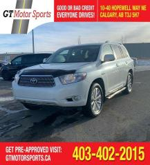 Used 2008 Toyota Highlander Hybrid Limited |$0 DOWN -EVERYONE APPROVED for sale in Calgary, AB