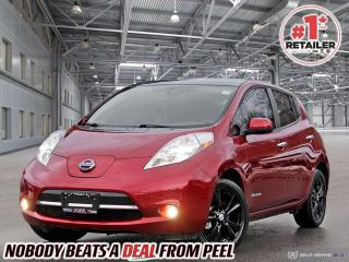 Used 2014 Nissan Leaf SL Midnight, Leather, 360 Cam, CHAdeMo, CLEAN, EV for sale in Mississauga, ON
