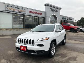 Used 2016 Jeep Cherokee Limited 4x4 V6 w/Leather, Sunroof, Navi, Trailer T for sale in Hamilton, ON